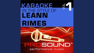 But I Do Love You (Karaoke With Background Vocals) (In the style of LeAnn Rimes)