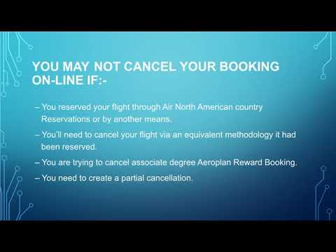 AirCanada Airline Change Flight
