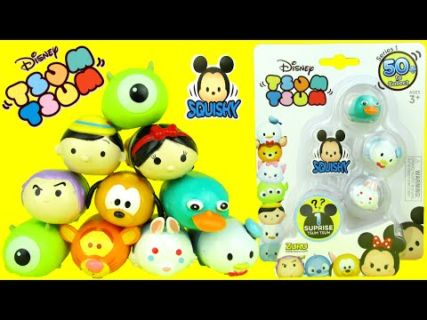Download video: DISNEY SURPRISE TSUM TSUM Squishy 4 Pack Figures Toy Review Unboxing Video Zuru Toys