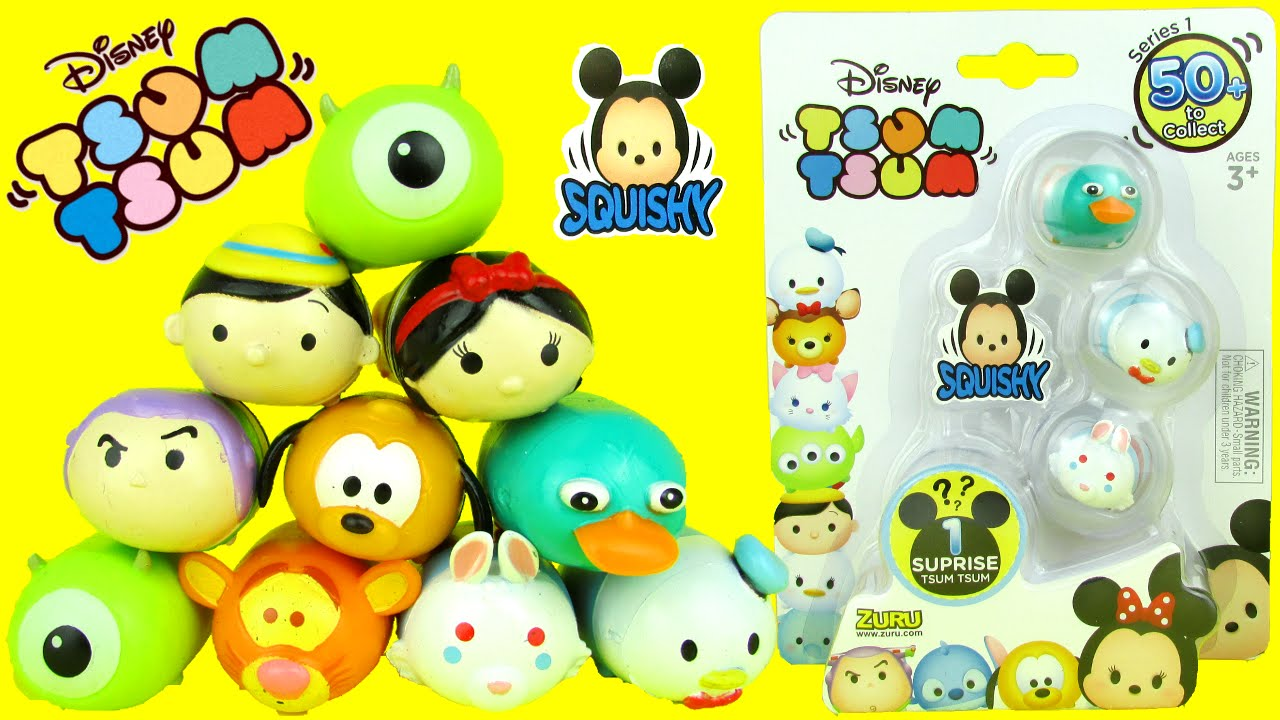 Squishy Disney Toys : DISNEY SURPRISE TSUM TSUM Squishy 4 Pack Figures Toy Review Unboxing Video Zuru Toys - YouTube