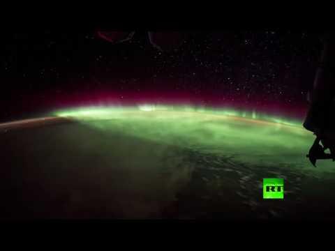 فيديو مذهل للشفق القطبي من متن المحطة الفضائية الدولية  - 15:22-2017 / 7 / 26