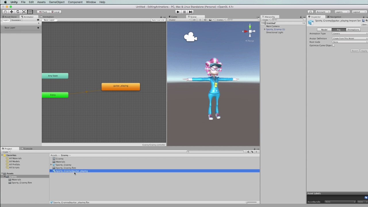 Removing Read Only from Animations in the Unity Editor
