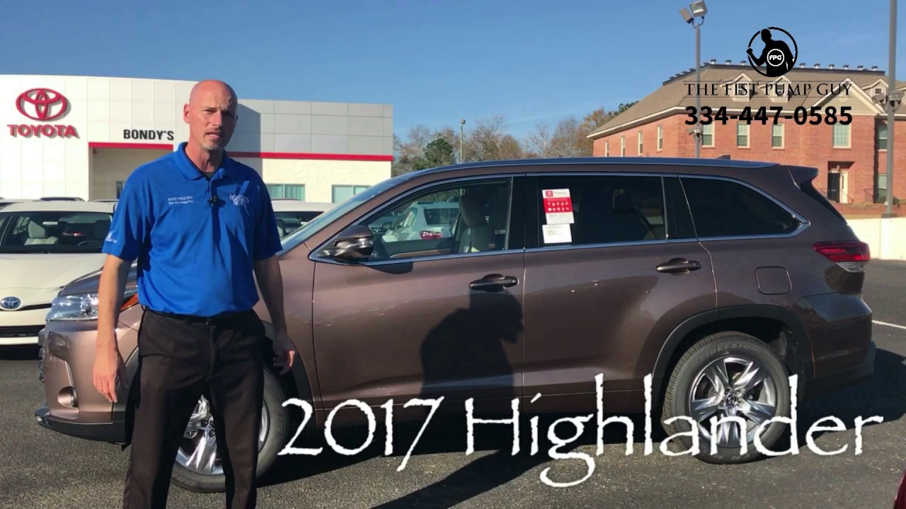 2017 Toyota Highlander In Toasted Walnut Pearl With The
