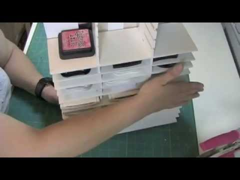 Ink Pad Storage from Foam Core