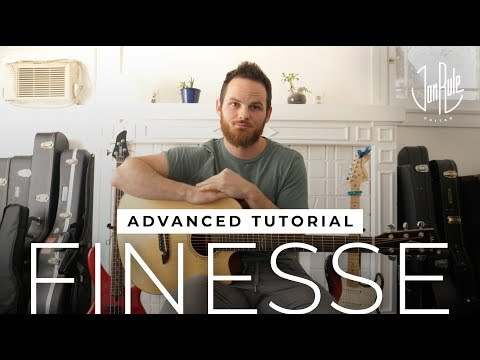 How To Play Finesse [REMIX] - Bruno Mars - Advanced Fingerstyle Guitar Tutorial