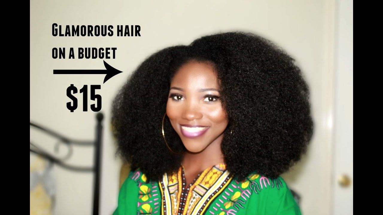 Crochet Braids Afro // Knotless Crochet Method // Get The Look For $15 ...