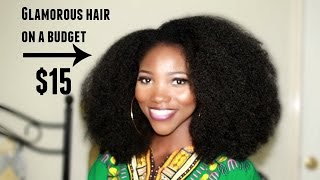 Crochet Braids Afro // Knotless Crochet Method // Get The Look For $15