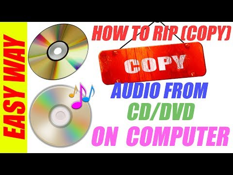 HOW TO RIP(COPY)AUDIO FORM CD/DVD ON COMPUTER || VERY EASY WAY
