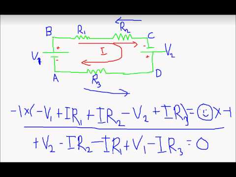 Basic Electronics- How to apply Kirchoff's Voltage Law (KVL)