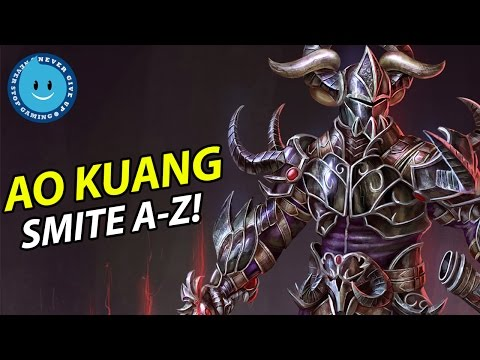 SMITE A-Z! Ao Kuang Gameplay, Guide and Damage Build!