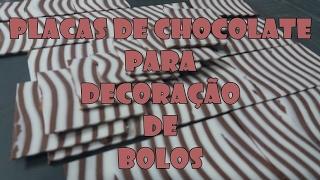 PLACAS DE CHOCOLATE PARA DECORAÇÃO DE BOLOS