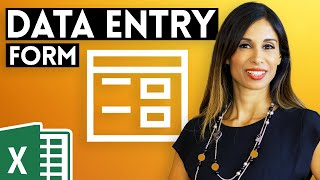 SUPER EASY Excel Data Entry Form (NO VBA)
