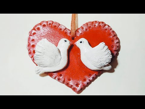 Как сделать сувенир на День Семьи,Любви и Верности. Мастер-класс.Голуби.Pigeons.DIY.