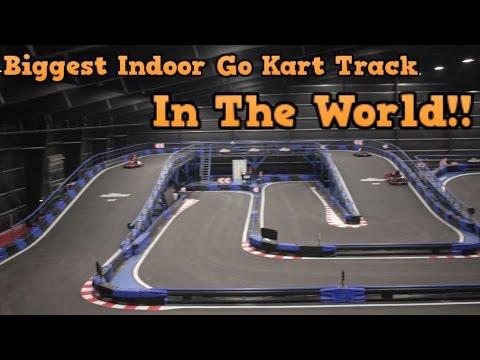 Crazy Indoor Go Kart Track Youtube
