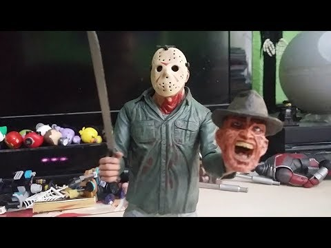 FRIDAY THE 13TH SPECIAL - FREDDY VS JASON Neca Action Figure Animation - 동영상
