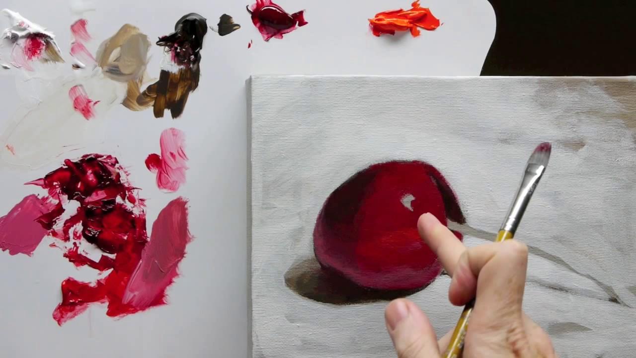 Démo de la technique de peinture de la nature morte de l'acrylique débutant - Partie 3 - YouTube