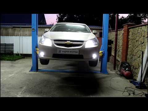 Chevrolet Epica Шевроле Эпика 2011 года Замена лампочки передней противотуманной фары