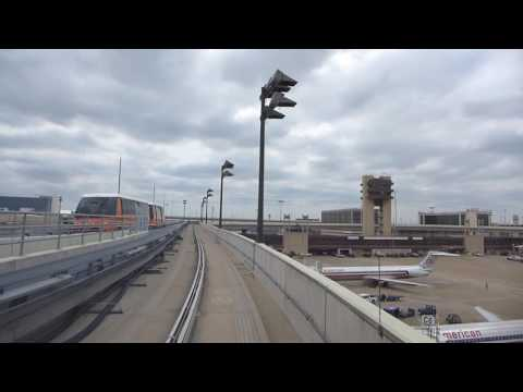 Dallas, Texas - Dallas/Fort Worth International Airport Skylink (Counter Clockwise Loop) HD (2016)