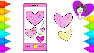 How to Draw Mobile Phone | Cómo dibujar teléfono móvil