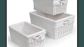 White Wicker Wht Linning Linen Laundry Basket White Wicker Basket