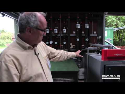 A small 7kW biogas plant to produce electricity, heat and biomethane - English subtitles