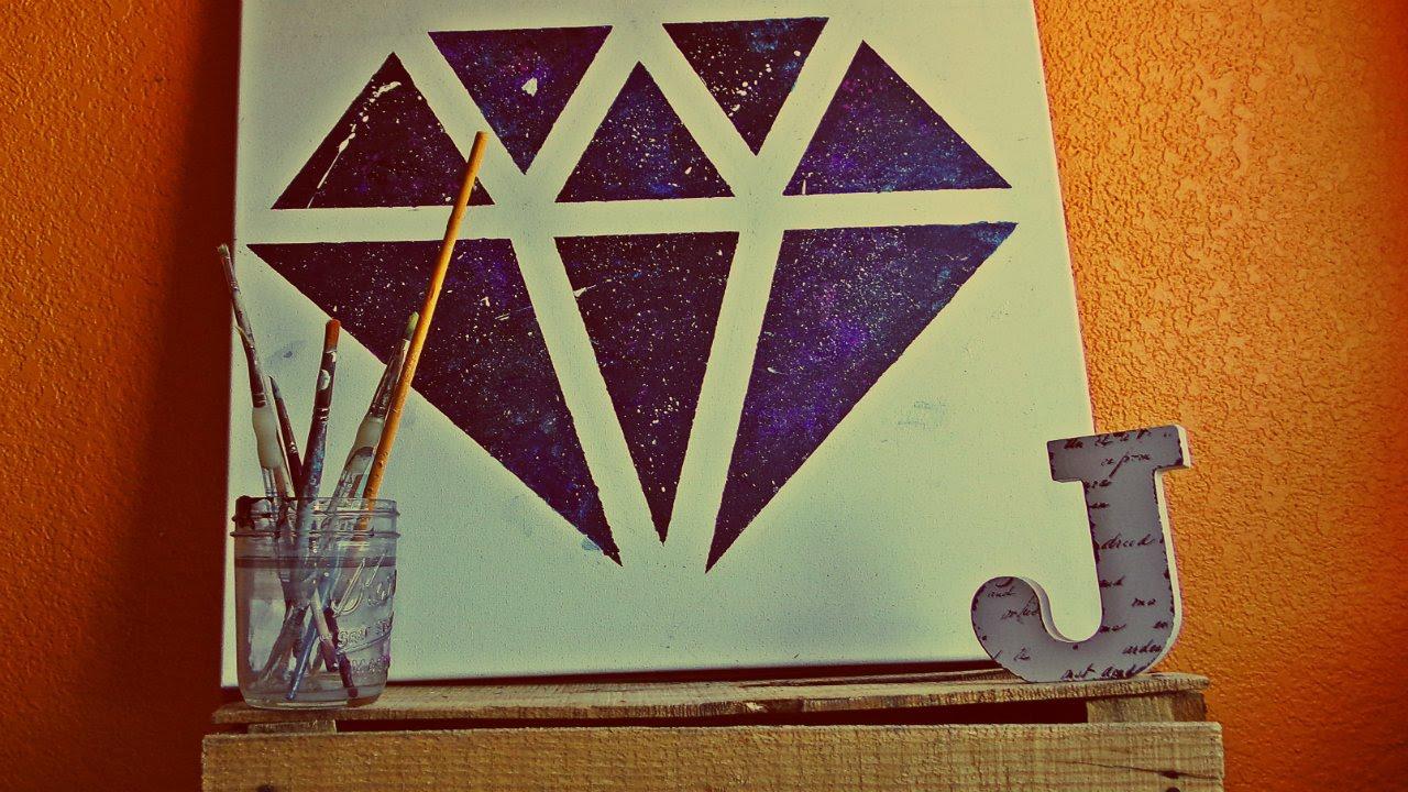 Diy para decorar tu recamara canvas pintura arcilica for Pintura para recamaras