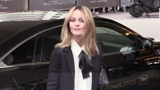 Actress and singer Vanessa Paradis at the Martinez hotel in Cannes