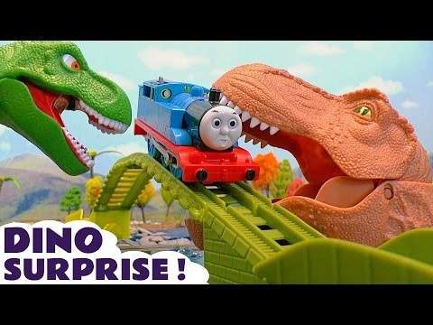 Thumbnail: Thomas and Friends Dinosaurs Surprise Toy Trains Episode with Batman Mashems and Surprise Eggs TT4U