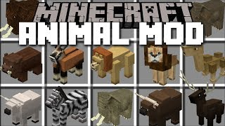 Minecraft LOTS OF ANIMALS MOD / HELP MAR...