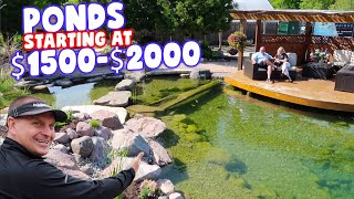YOU Could Have a *POND* for Under $2000!!