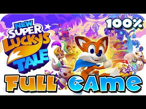 New Super Lucky's Tale FULL GAME 100% Walkthrough Longplay (Switch)