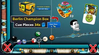 8 ball pool Berlin Champion Box Cue Pieces 34× 😃 Berlin Ring 33 Coins 139B screenshot 4