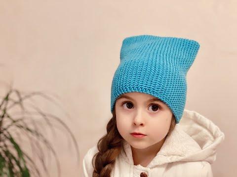 Простая и красивая шапка-бини спицами за 2 часа! Готовимся к весне!