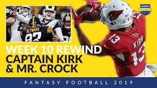 Week 10 Fantasy Football Recap - Christian Kirk FindsEnd Zone, Jared Goff & Rams Hit Rock Bottom