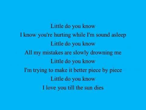 Alex and Sierra Little Do You Know - Lyrics