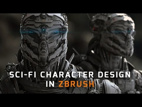 Sci fi character design in zbrush trailer youtube for Sci fi decor