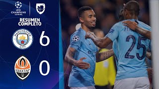 Manchester City 6-0 Shakhtar Donetsk - GOLES Y RESUMEN - Grupo F - UEFA Champions League