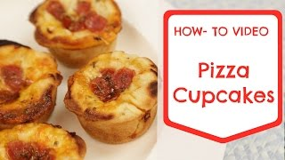 Easy Back to School Pizza Cupcake Recipe made in your Cupcake Maker