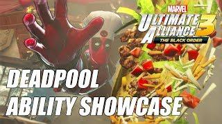 Deadpool (Chef Costume) - All Abilities Showcase  - Marvel Ultimate Alliance 3 (MUA3)
