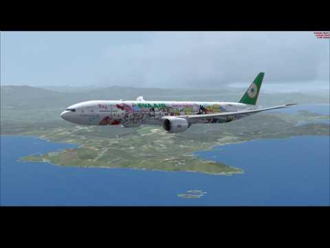 [FSX:SE] EVA AIR BR106 RCTP-RJFF TPE-FUK B777-300ER