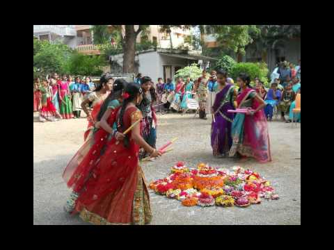 SR HIGH SCHOOL, GOPALPUR bathukamma celebrations