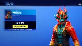 PEAU DE POMPIER « NOUVELLE » ! - PEAU DE DRAGON Fortnite DAILY ITEM Shop [Feburary 4] GOLDEN CLOUD WRAP