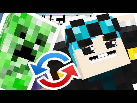 Thumbnail: Minecraft | SWAPPING CREEPERS WITH PLAYERS..