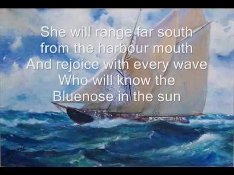 Bluenose song with lyrics