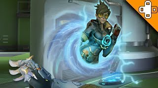 TRACER PORTAL GUN! Overwatch Funny & Epic Moments 493