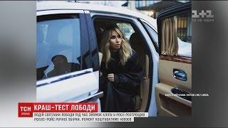 Лобода потрапила у ДТП під час зйомок кліпу в Росії