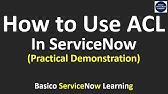 28  ACL in ServiceNow - YouTube