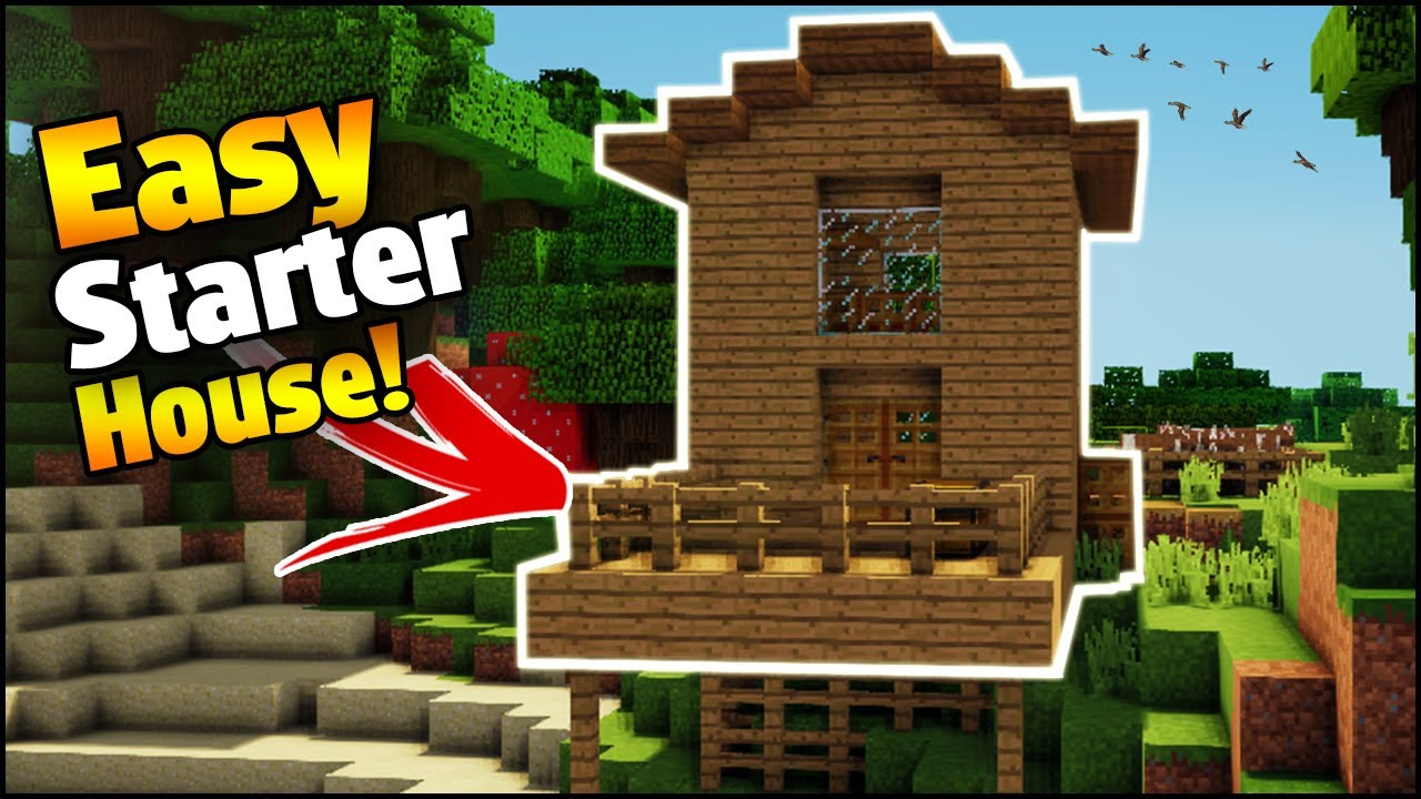 Minecraft  How To Build A Simple Starter House  - House Tutorial