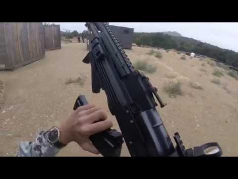 Airsoft WE AK PMC GBB Gameplay