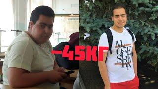 постер к видео Похудел на 40 кг |  Как поменялась жизнь после похудения